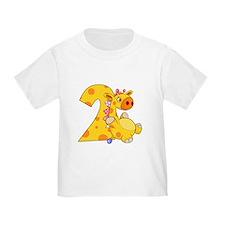 2nd Birthday Giraffe T