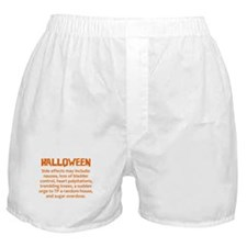 Halloween Side Effect Disclaimer Boxer Shorts