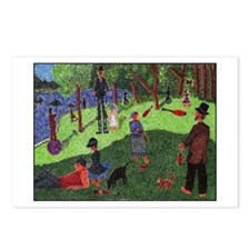Sun Afternoon in the Park w/ Jugglers Postcards(8)
