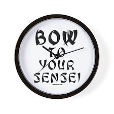 Bow To Your Sensei Wall Clock
