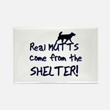 Real Mutts, shelter, pound, Rectangle Magnet