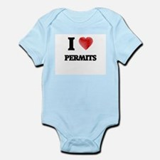 I Love Permits Body Suit