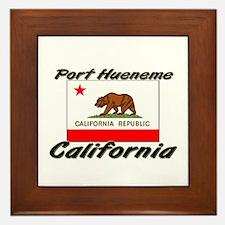 Port Hueneme California Framed Tile