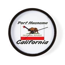 Port Hueneme California Wall Clock