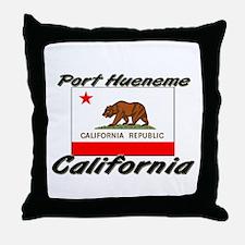 Port Hueneme California Throw Pillow