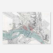 Vintage Map of Richmond V Postcards (Package of 8)