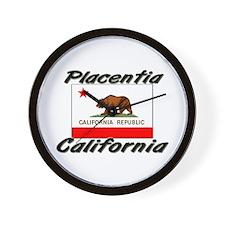 Placentia California Wall Clock