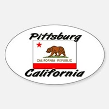 Pittsburg California Oval Decal