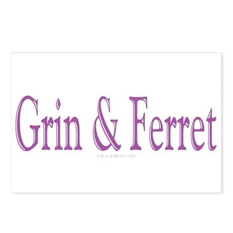 Grin & Ferret Postcards (Package of 8)