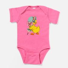 Fancy Little Vintage Easter Chick Baby Bodysuit