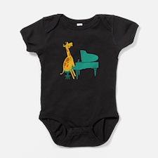 Cute Grand piano Baby Bodysuit