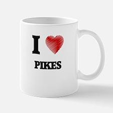 I Love Pikes Mugs