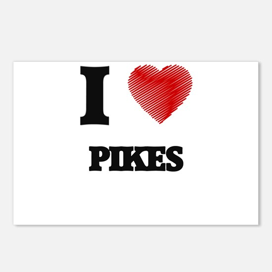 I Love Pikes Postcards (Package of 8)
