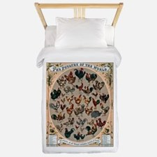 World Poultry Poster Twin Duvet