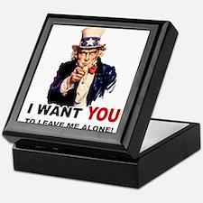 Want You To Leave Me Alone Keepsake Box