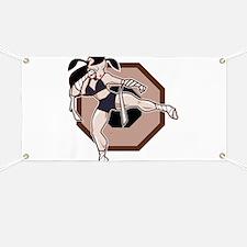 Muay Thai Female Fighter Banner