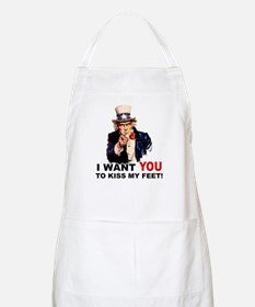 Want You to Kiss My Feet BBQ Apron