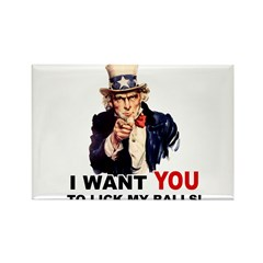 Want You to Lick My Balls Rectangle Magnet (10 pac