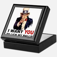 Want You to Lick My Balls Keepsake Box