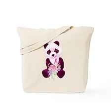 Breast Cancer Panda Bear Tote Bag
