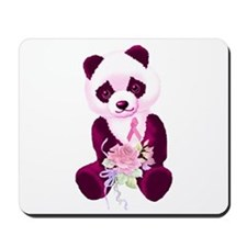 Breast Cancer Panda Bear Mousepad