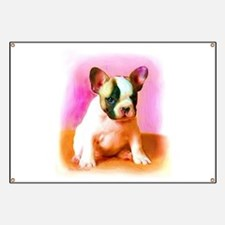 French bulldog art Banner