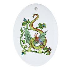Celtic Dragon 2 Oval Ornament