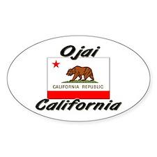 Ojai California Oval Decal