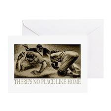 No Place Like Home Baseball Greeting Card