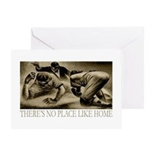 No Place Like Home Baseball Greeting Card