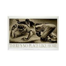 No Place Like Home Baseball Rectangle Magnet