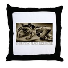 No Place Like Home Baseball Throw Pillow