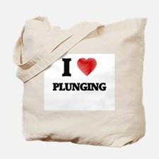 I Love Plunging Tote Bag