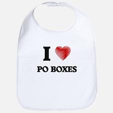 I Love Po Boxes Bib