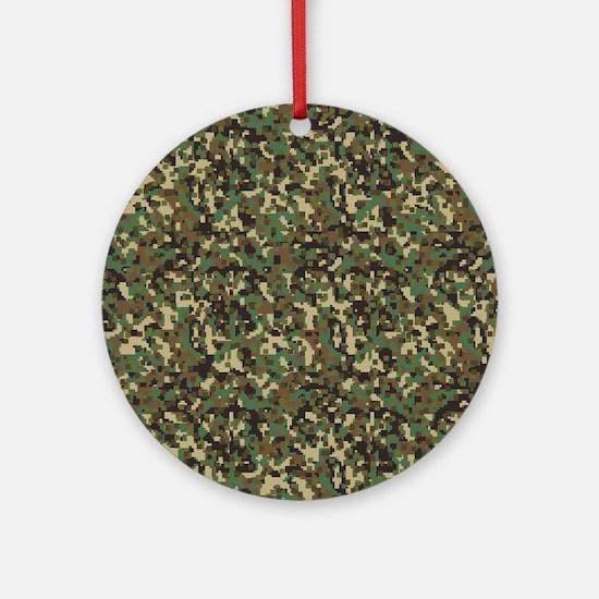 ARMY DIGI CAMO Round Ornament