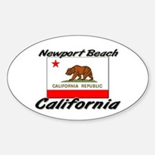 Newport Beach California Oval Decal