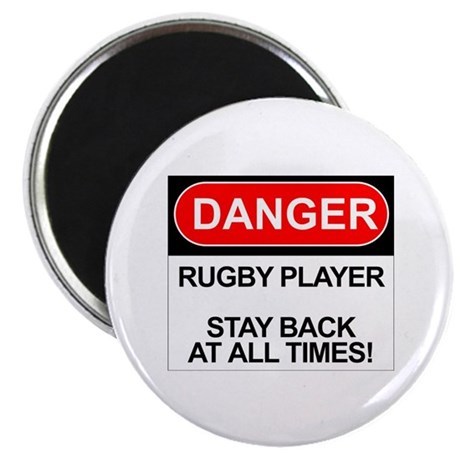 """Danger Rugby Player"" 2.25"" Magnet (100 pack)"