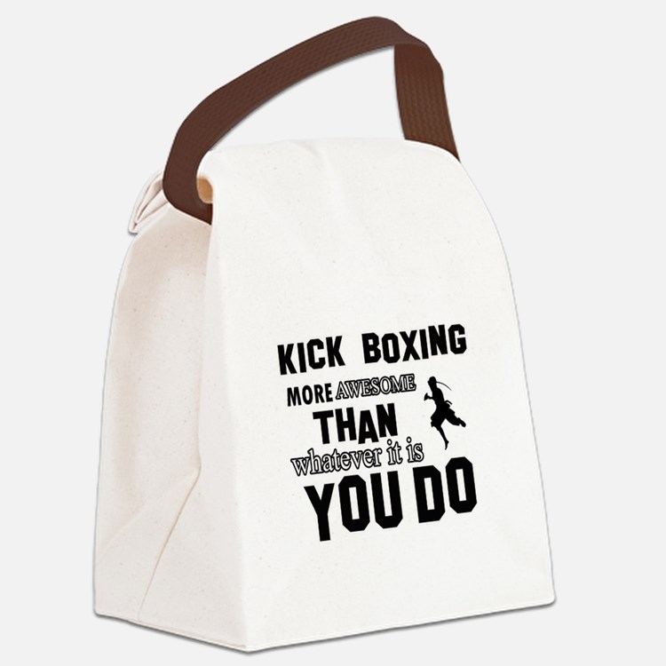 Kickboxing More Awesome Designs Canvas Lunch Bag