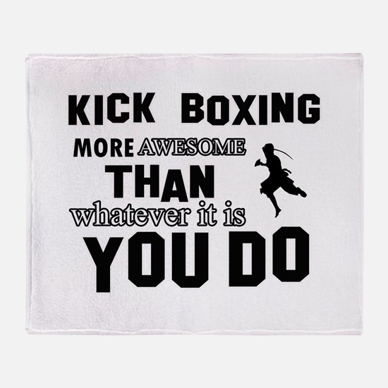 Kickboxing More Awesome Designs Throw Blanket