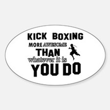 Kickboxing More Awesome Designs Decal