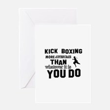 Kickboxing More Awesome Designs Greeting Card