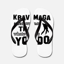 Krav Maga More Awesome Designs Flip Flops