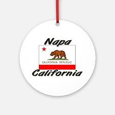 Napa California Ornament (Round)