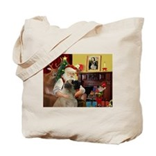 Santa's Bullmastiff #7 Tote Bag