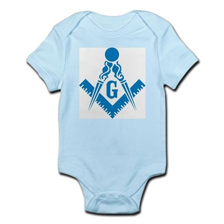 Masonic Compass and Square Infant Creeper