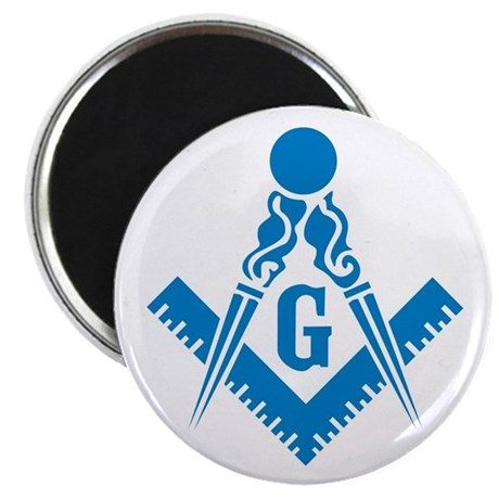 """Masonic Compass and Square 2.25"""" Magnet (10 pack)"""