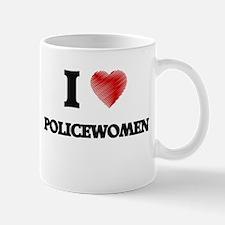 I Love Policewomen Mugs
