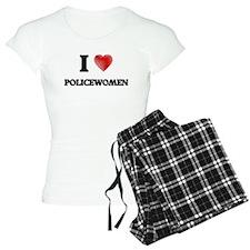I Love Policewomen Pajamas