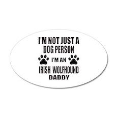 I'm an Irish Wolfhound Daddy Wall Decal