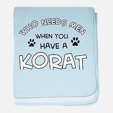 Korat Cat Designs baby blanket